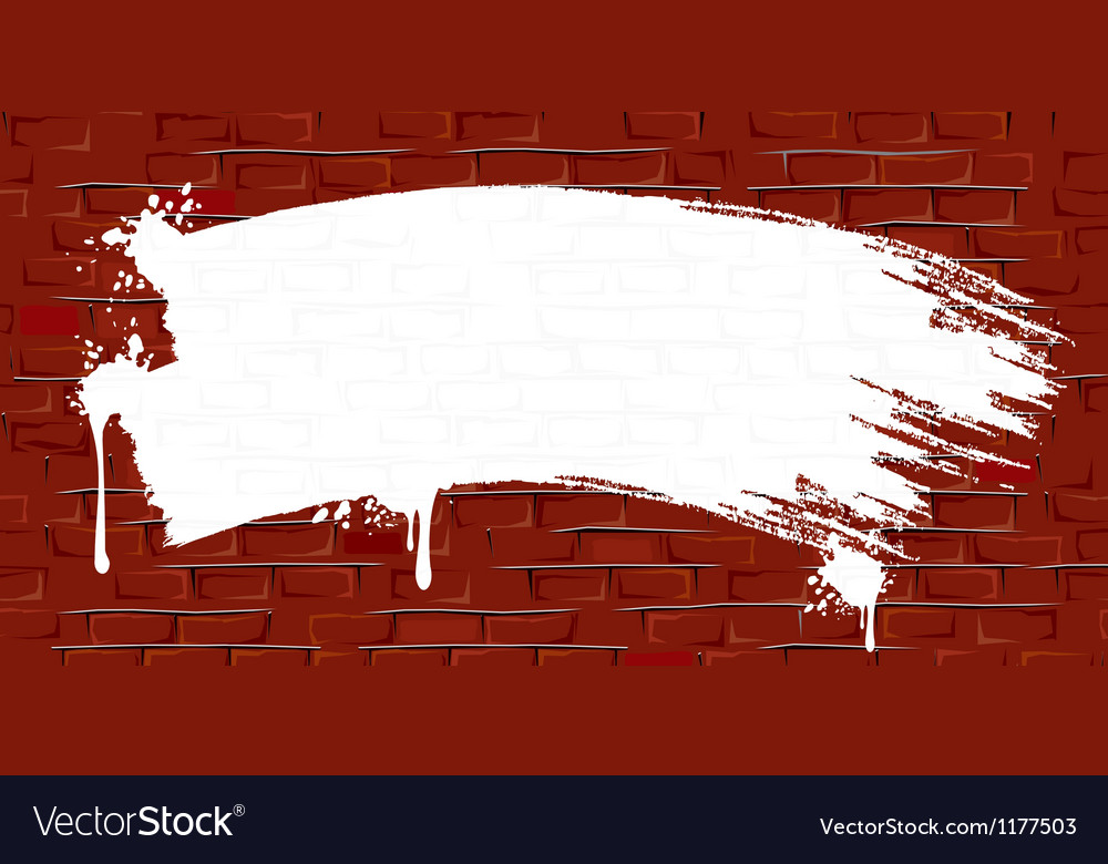 Grunge brick wall background with paint strokes vector | Price: 1 Credit (USD $1)