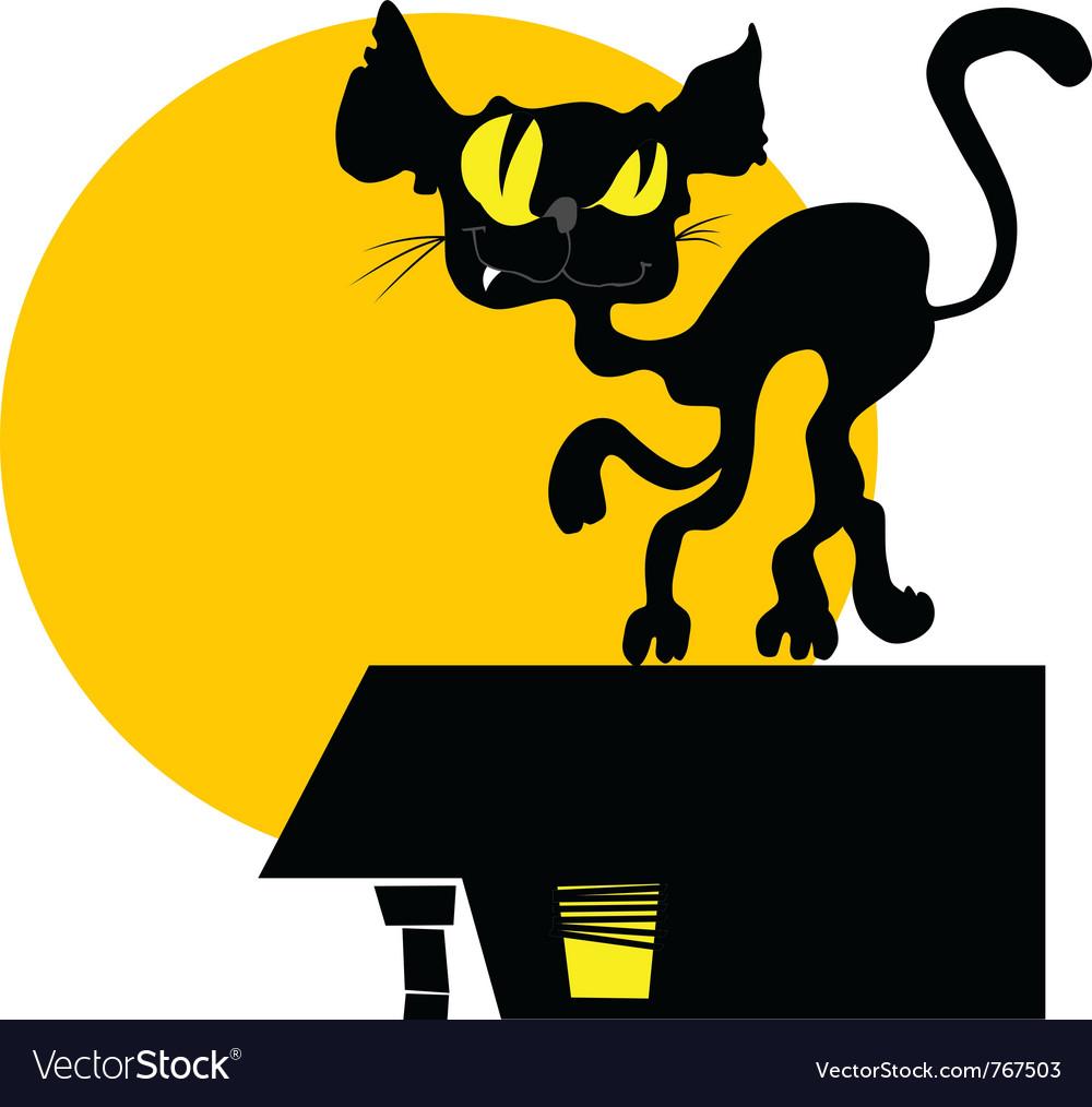 Halloween cat vector   Price: 1 Credit (USD $1)