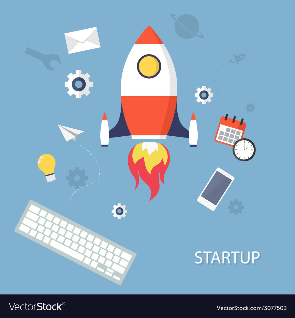 Project startup vector | Price: 1 Credit (USD $1)