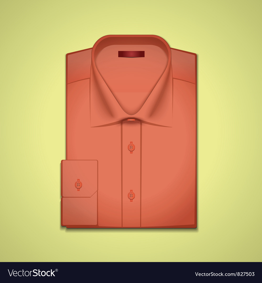 Red classic mens shirt vector | Price: 3 Credit (USD $3)
