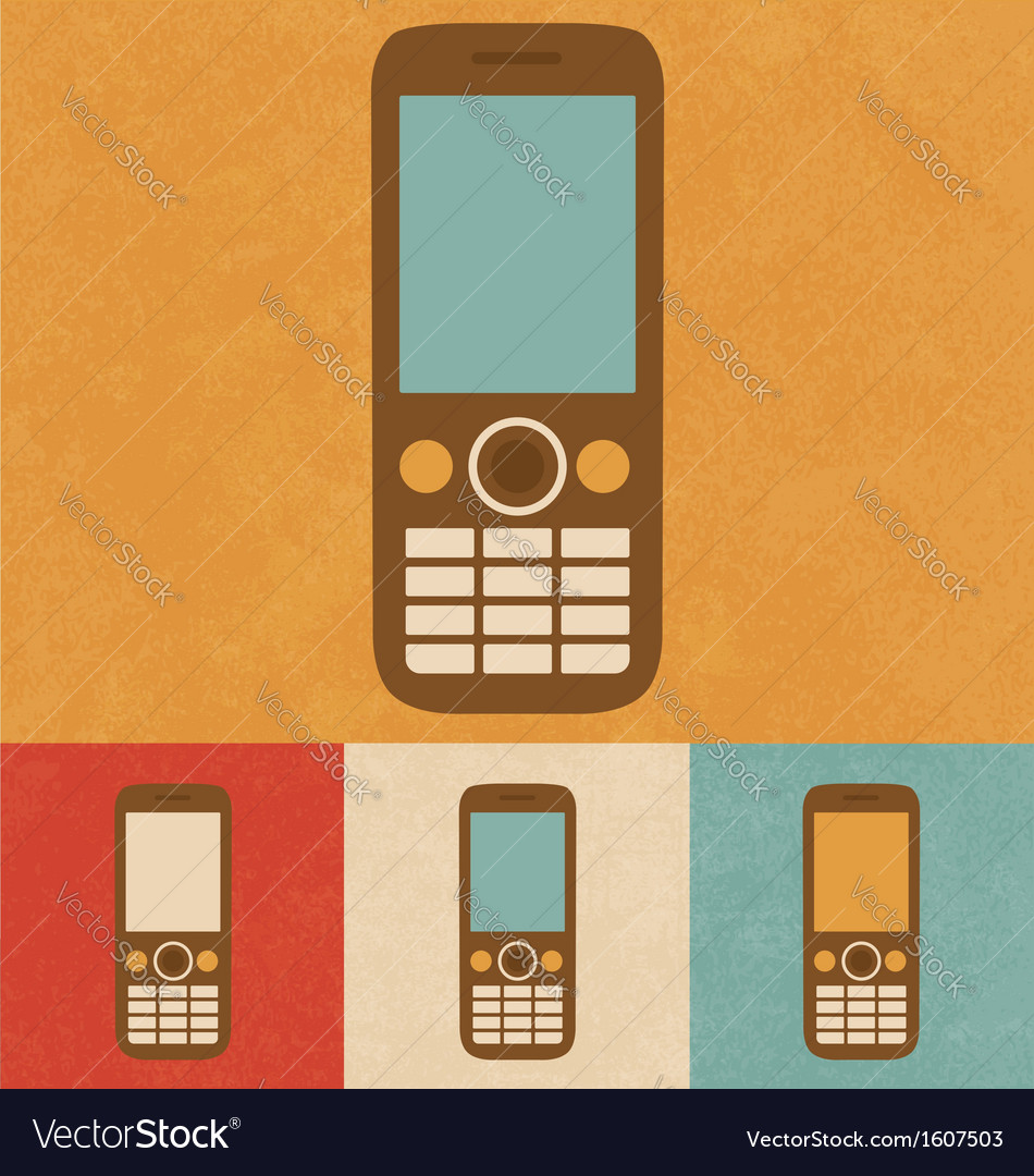 Retro phone icon vector | Price: 1 Credit (USD $1)