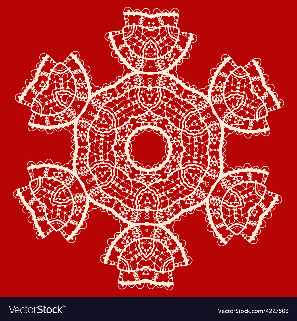 Stylized indian mandala over red  vintage tribal vector | Price: 1 Credit (USD $1)