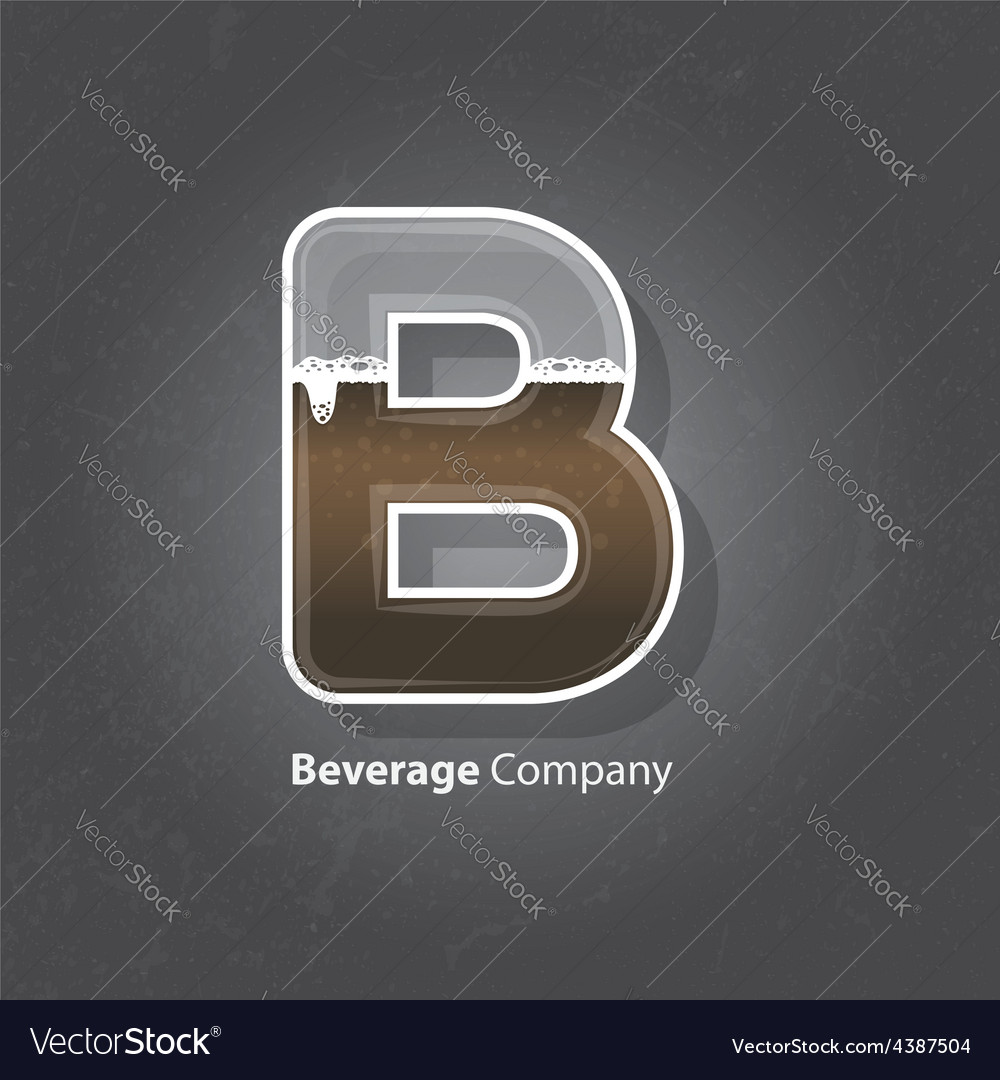 Beverage company logo vector | Price: 1 Credit (USD $1)