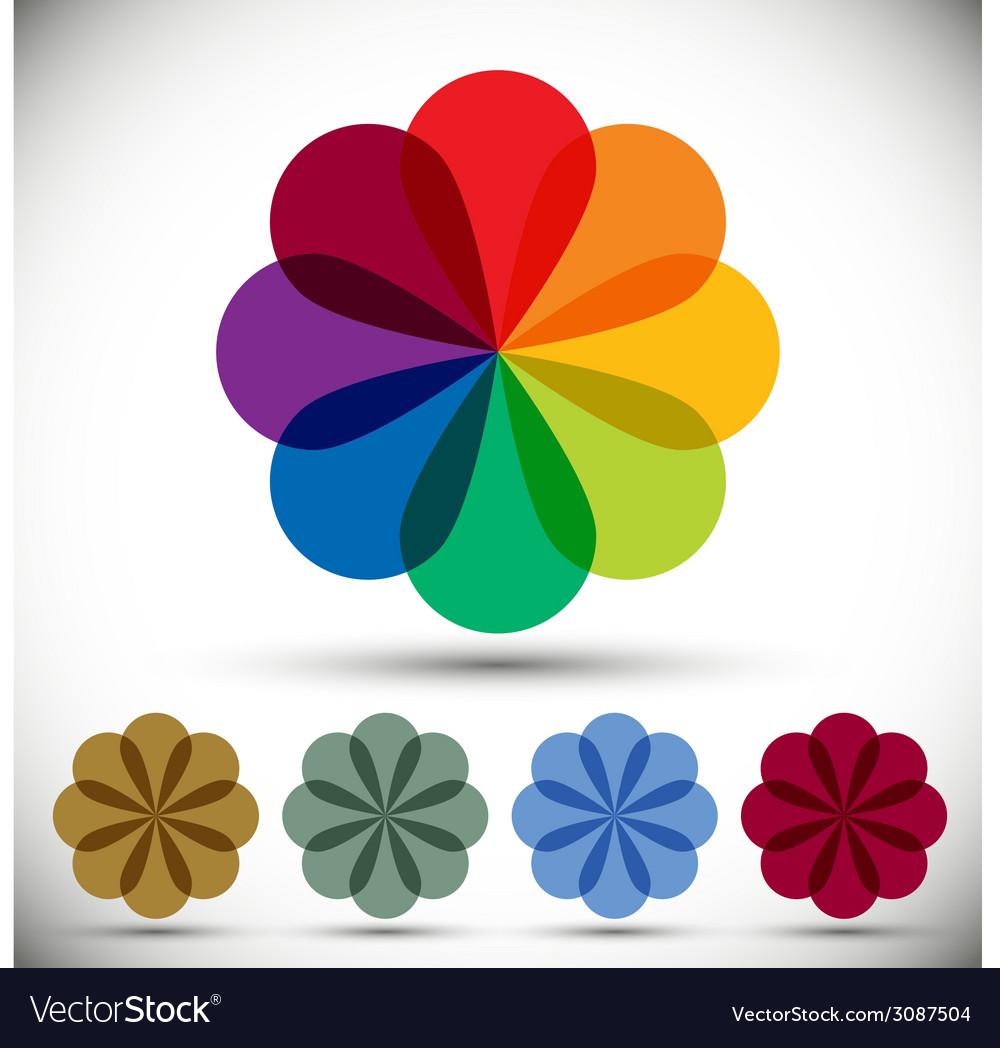 Color spectrum flower vector | Price: 1 Credit (USD $1)
