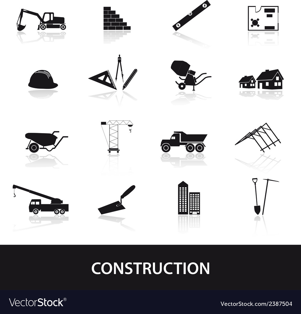 Construction icons set eps10 vector | Price: 1 Credit (USD $1)