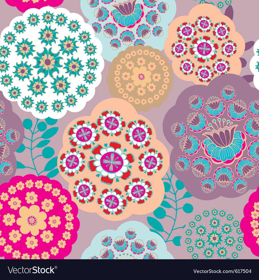 Floral patterns background vector | Price: 1 Credit (USD $1)