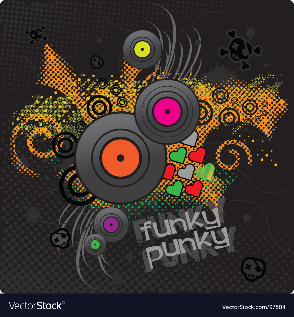Punkie background vector | Price: 1 Credit (USD $1)
