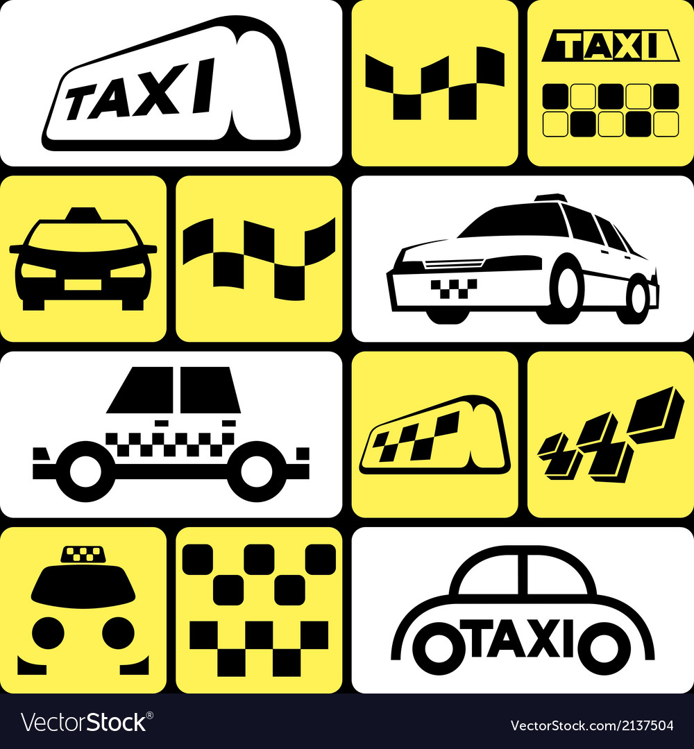 Taxi icons set vector | Price: 1 Credit (USD $1)