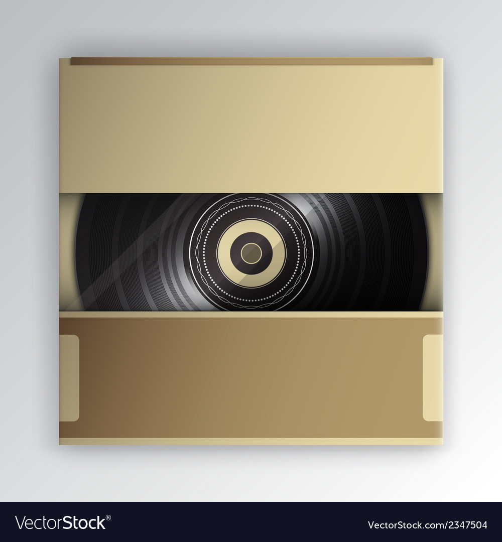 Vinyl record inside the package vector | Price: 1 Credit (USD $1)
