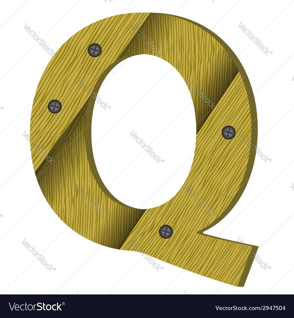 Wood letter q vector | Price: 1 Credit (USD $1)