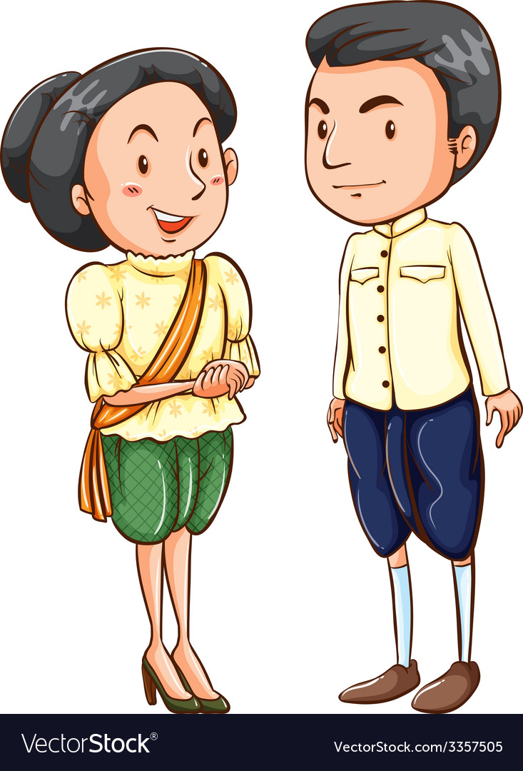 Asian couple vector | Price: 3 Credit (USD $3)