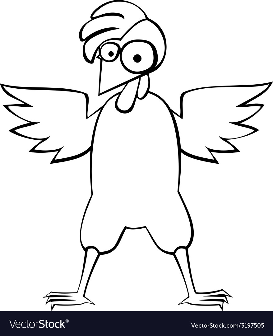 Chicken bw vector | Price: 1 Credit (USD $1)
