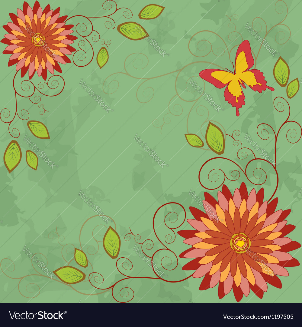 Flower vintage background invitation or greeting vector | Price: 1 Credit (USD $1)