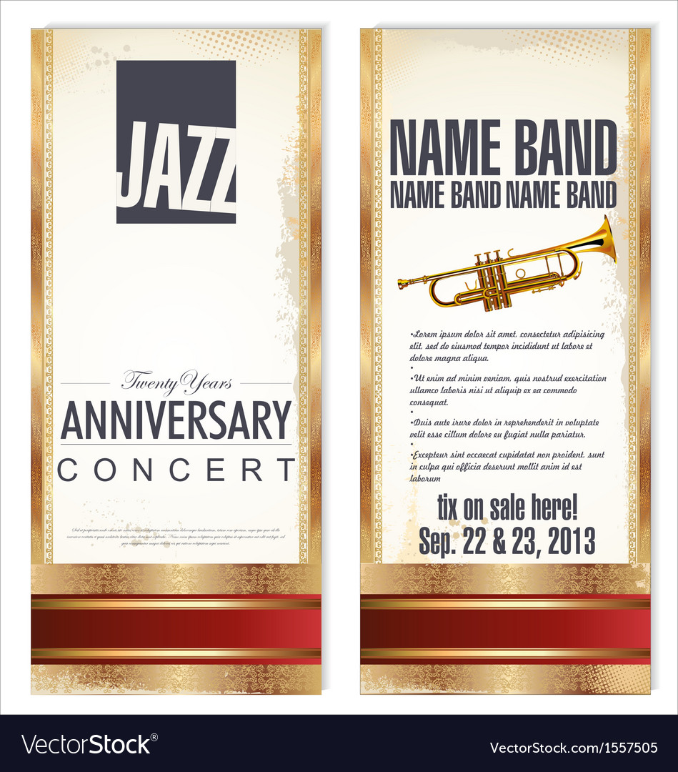 Flyer for jazz festival vector | Price: 1 Credit (USD $1)