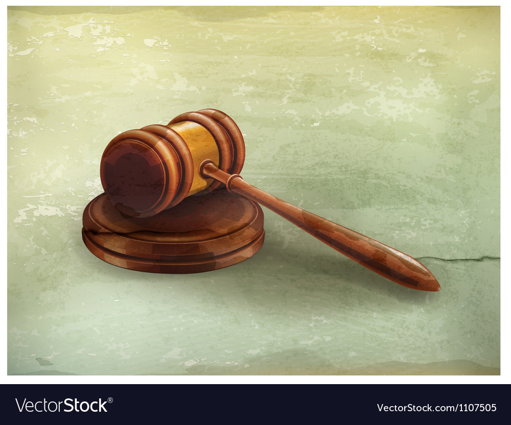 Gavel old-style vector | Price: 3 Credit (USD $3)