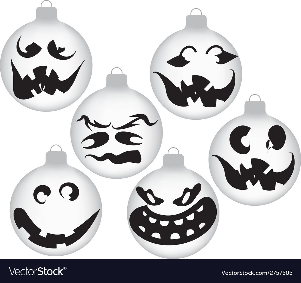 Halloween ghost ornaments vector | Price: 1 Credit (USD $1)