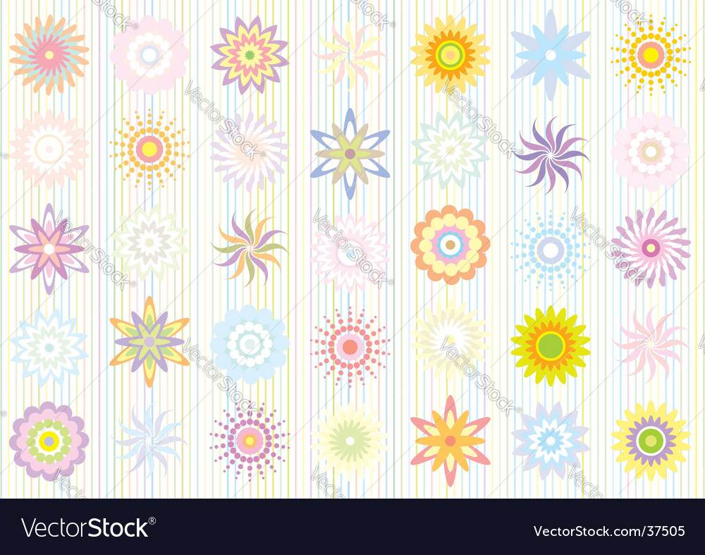 Pastel color floral pattern vector | Price: 1 Credit (USD $1)