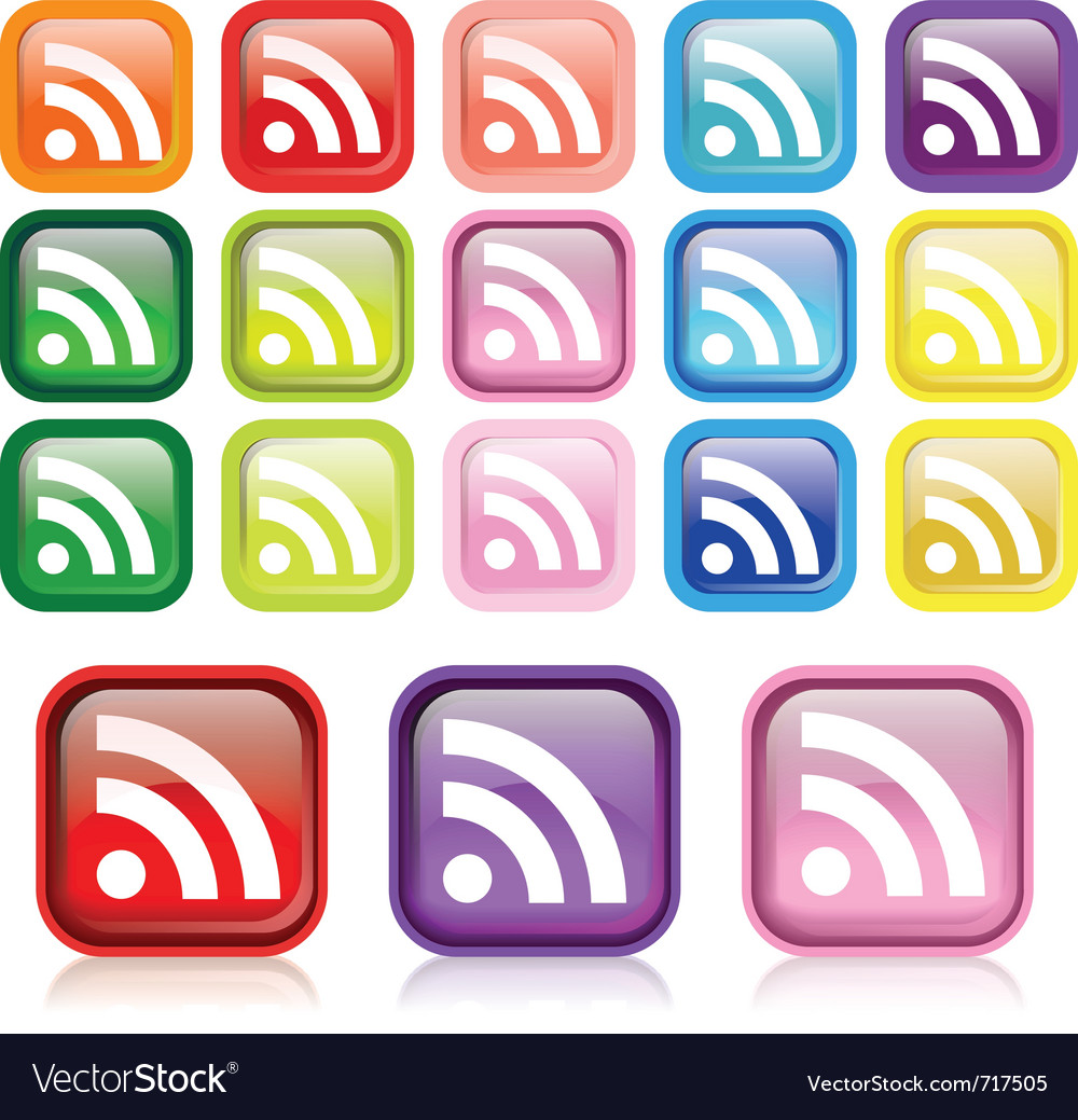 Rss iconset vector | Price: 1 Credit (USD $1)