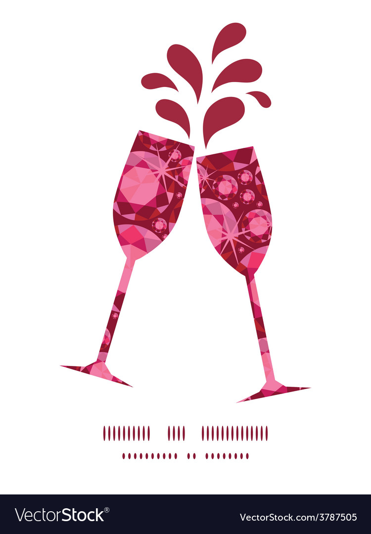 Ruby toasting wine glasses silhouettes vector | Price: 1 Credit (USD $1)