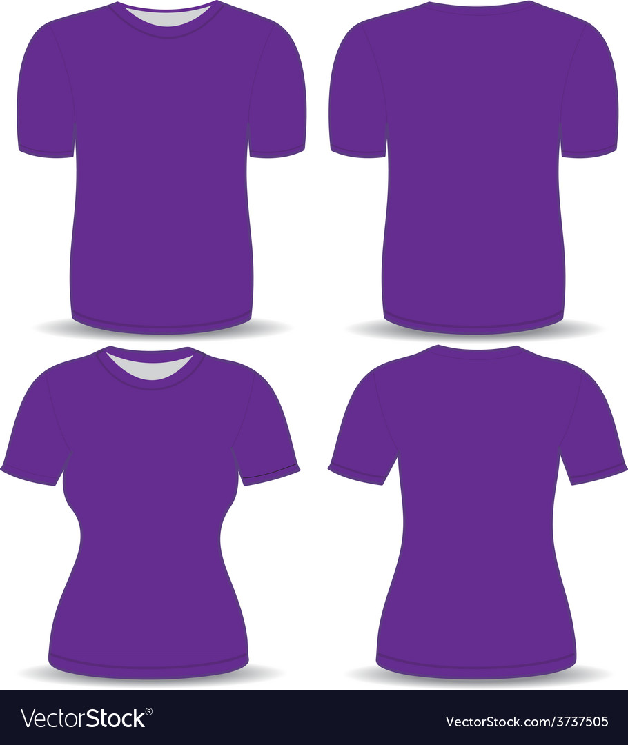 T shirt purple template vector | Price: 1 Credit (USD $1)