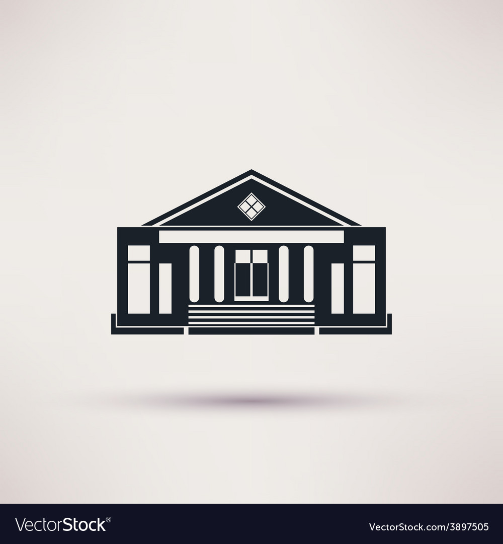 Theatre the building is an icon flat vector   Price: 1 Credit (USD $1)
