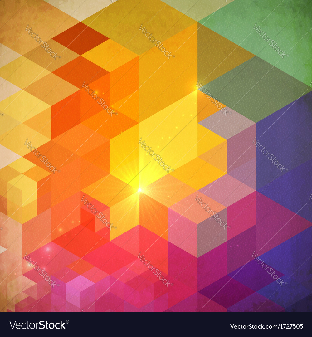 Vibrant colorful abstract geometry background vector | Price: 1 Credit (USD $1)