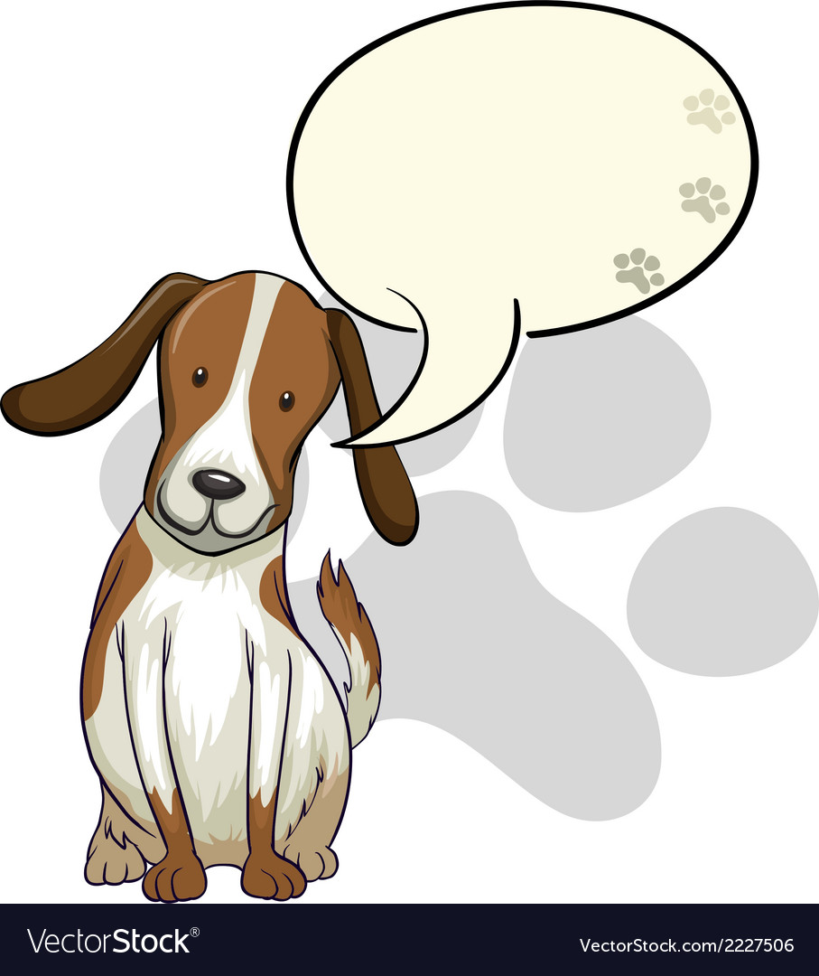 A dog thinking vector | Price: 1 Credit (USD $1)
