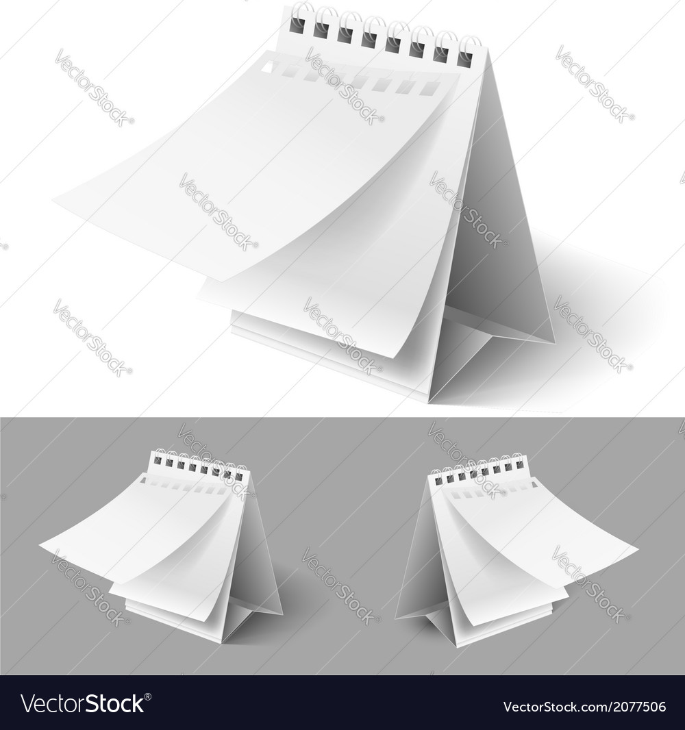 Blank flip calendars vector | Price: 1 Credit (USD $1)