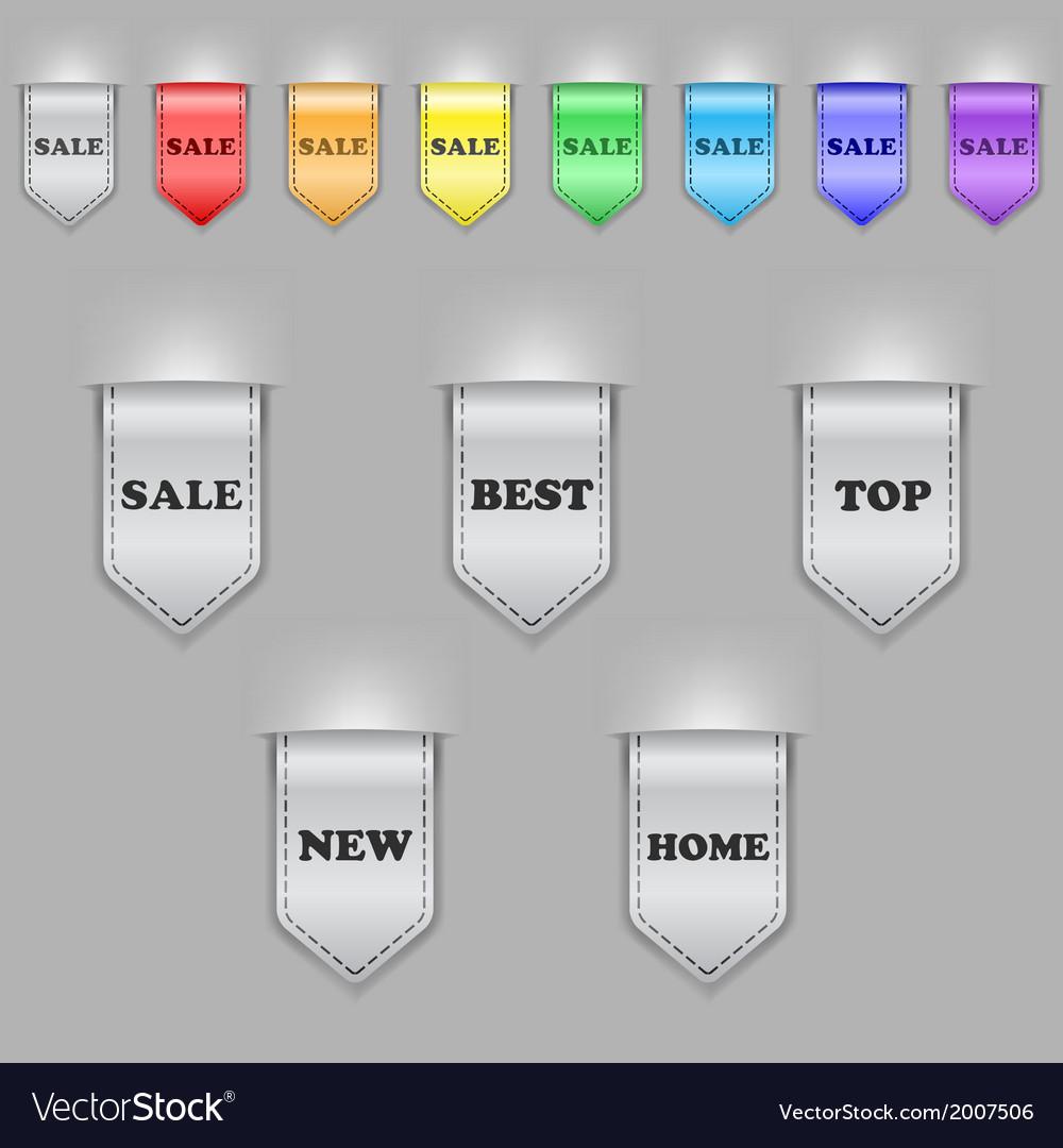 Bookmark ribbons vector | Price: 1 Credit (USD $1)
