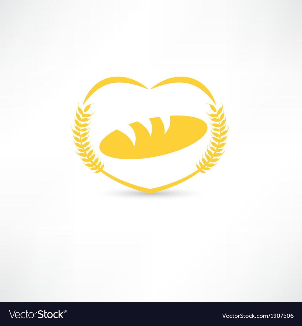 Bread symbol icon vector | Price: 1 Credit (USD $1)