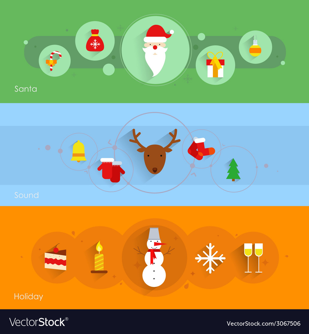 Christmas banner set vector | Price: 1 Credit (USD $1)