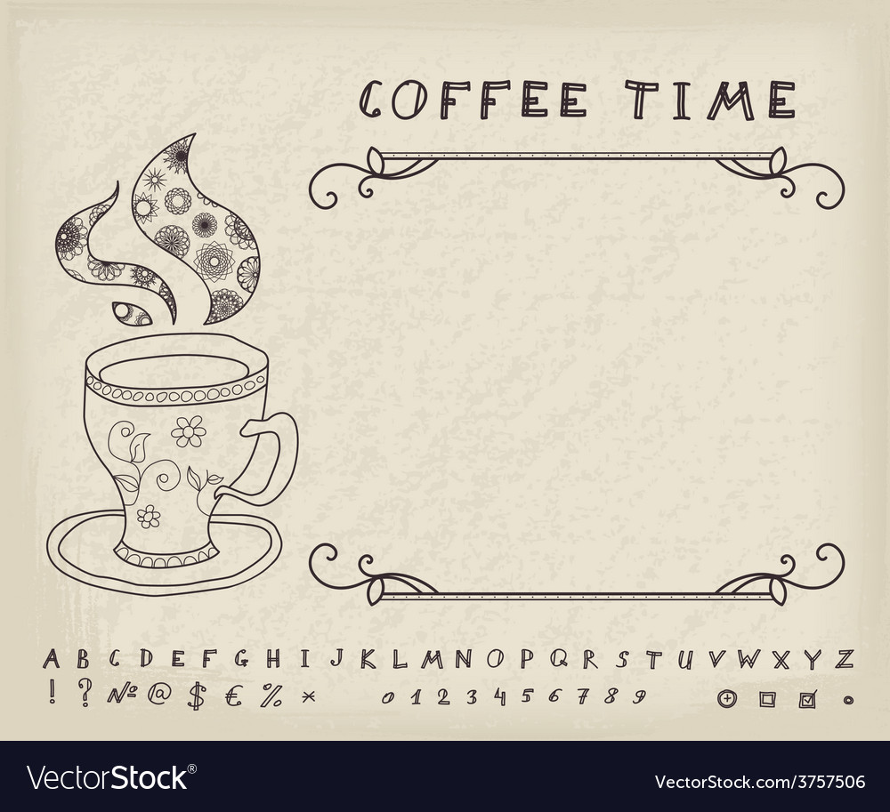 Coffee vintage background vector | Price: 1 Credit (USD $1)