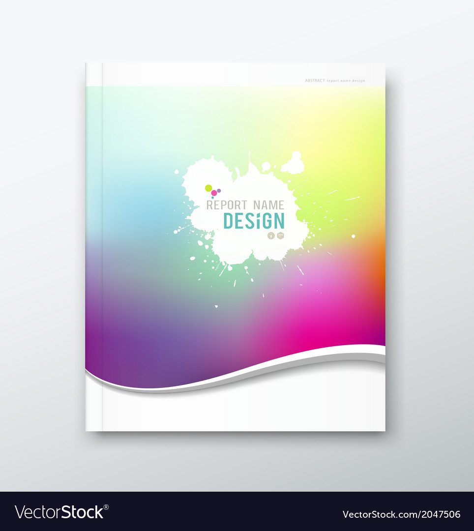 Cover annual report abstract watercolor design vector | Price: 1 Credit (USD $1)