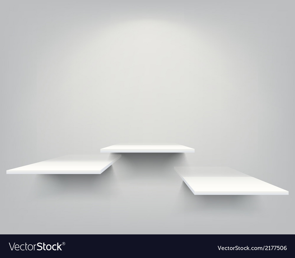 Empty shelves vector | Price: 1 Credit (USD $1)