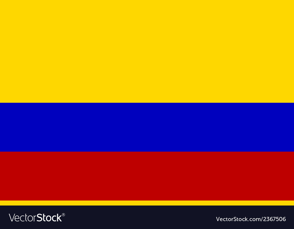 Flag of colombia vector | Price: 1 Credit (USD $1)