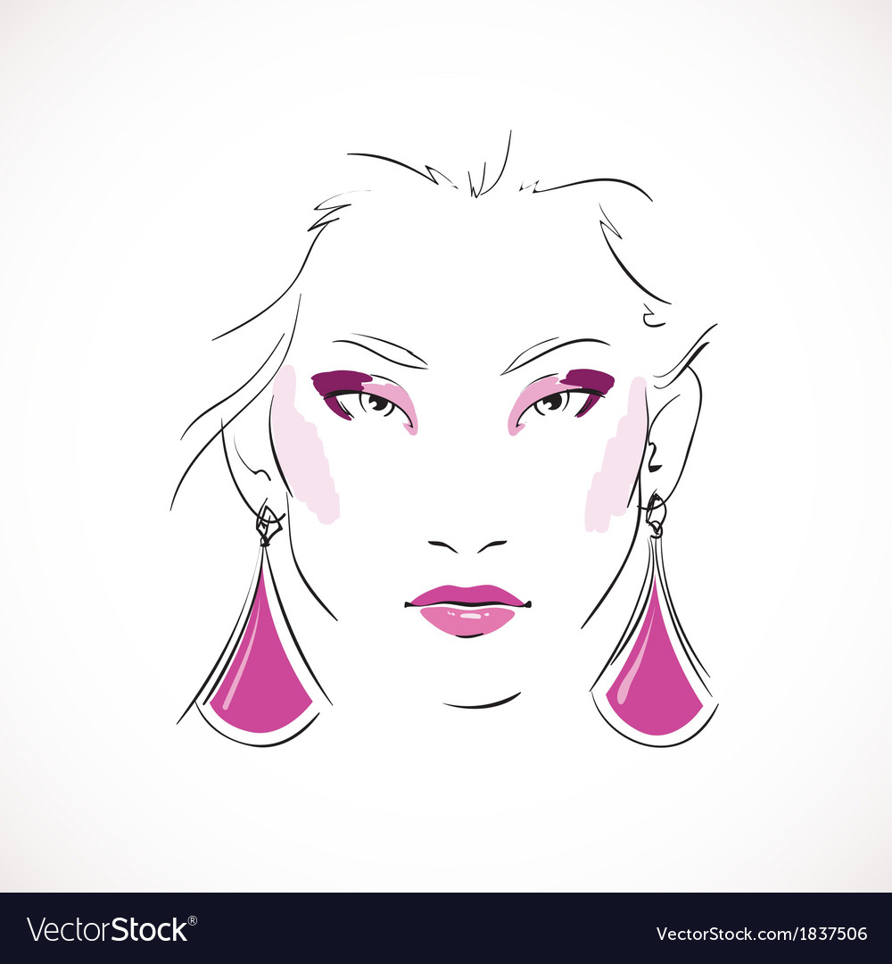 Front expressive look of fashion woman vector | Price: 1 Credit (USD $1)
