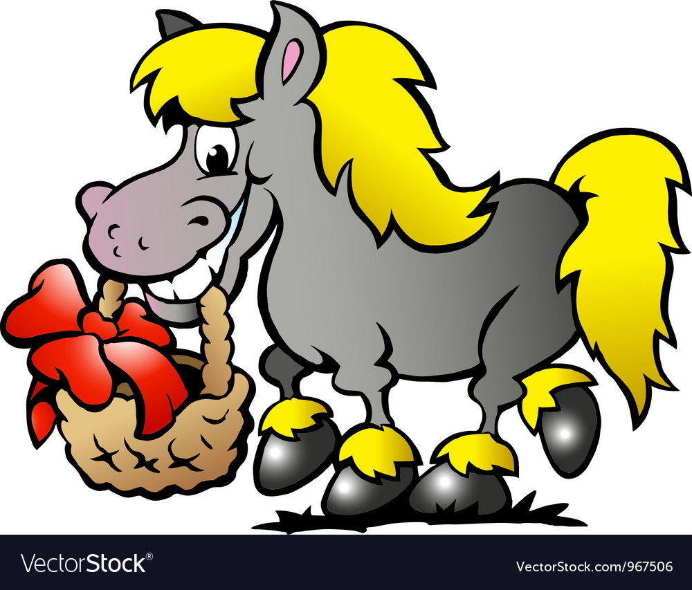 Hand-drawn of an pony horse vector | Price: 1 Credit (USD $1)