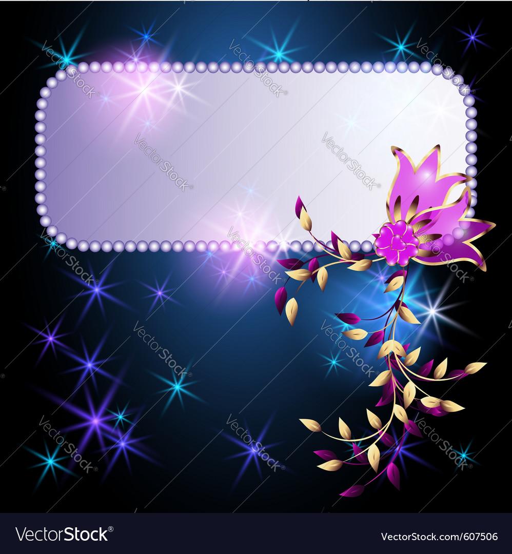 Neon flowers vector | Price: 1 Credit (USD $1)