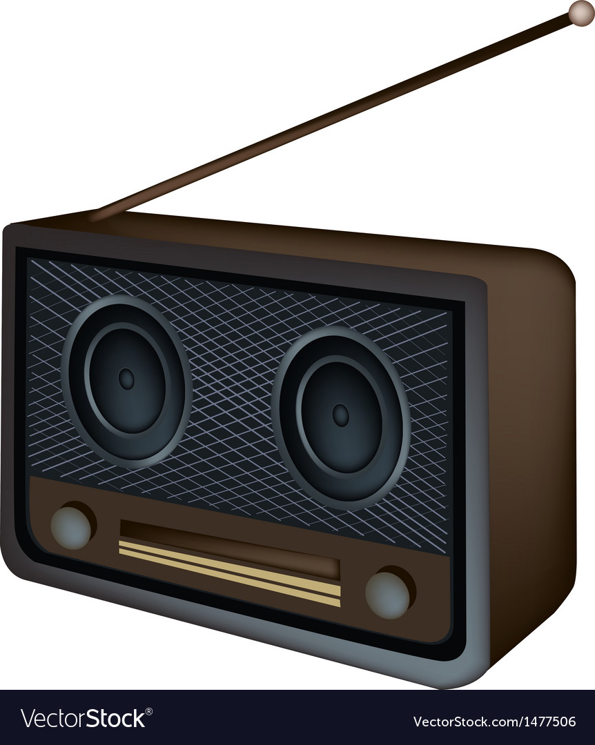 Old radio background vector | Price: 1 Credit (USD $1)