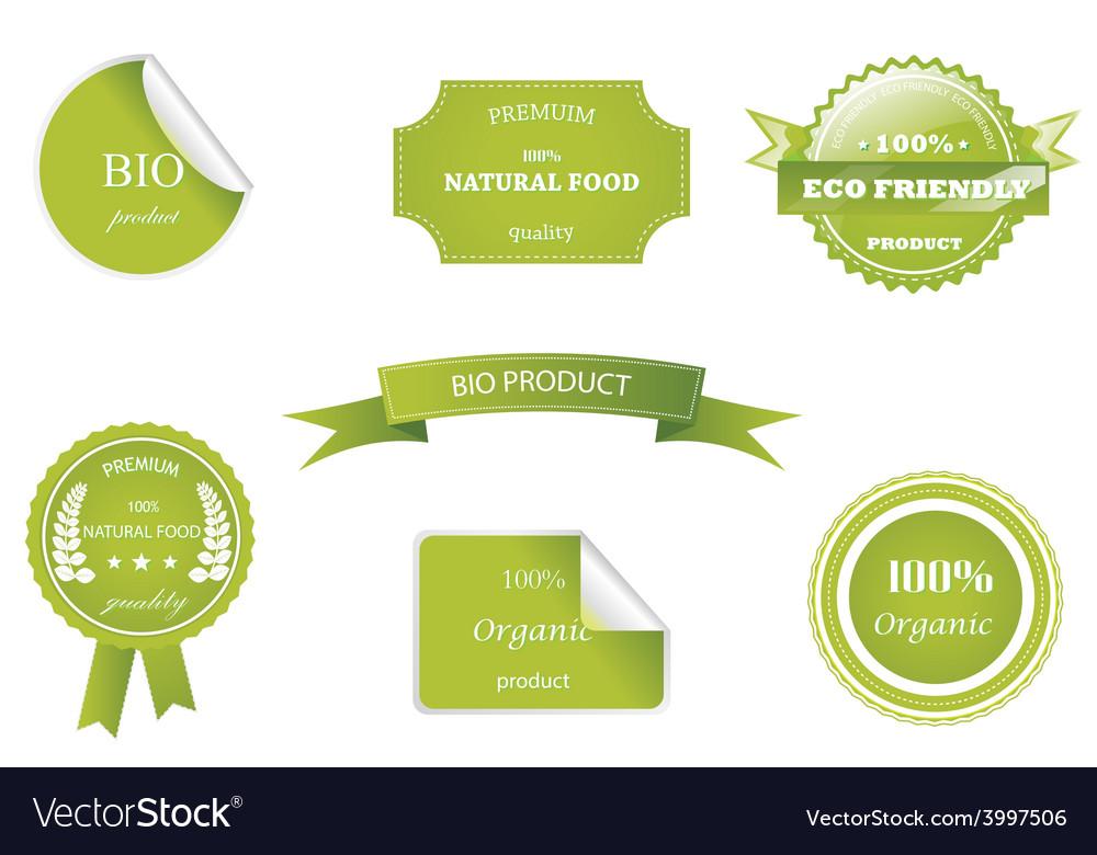 Set of eco badges vector
