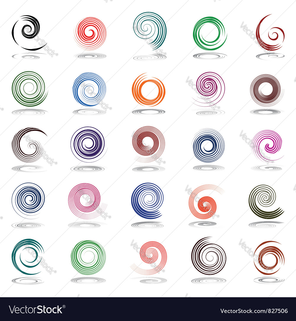 Spiral design elements vector | Price: 1 Credit (USD $1)