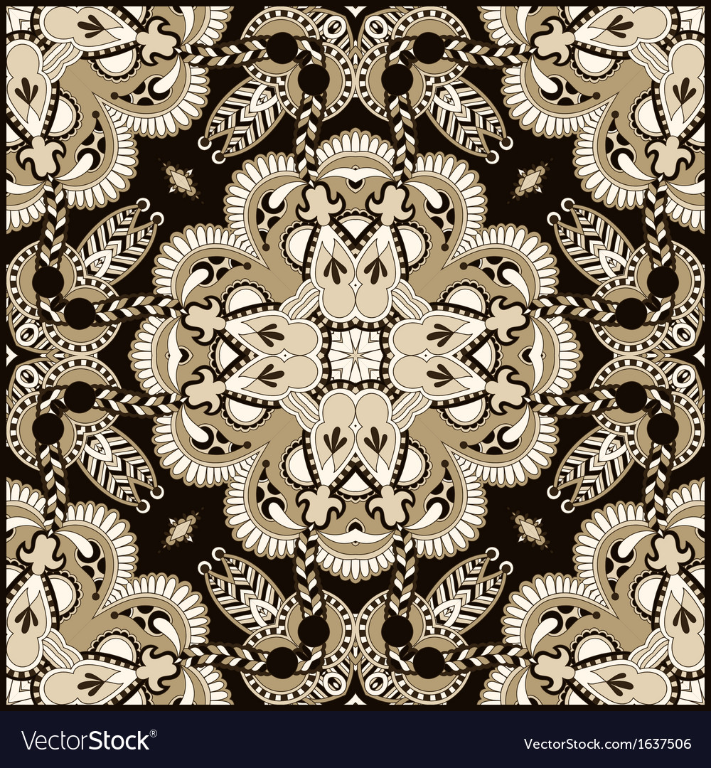 Traditional ornamental floral paisley bandanna vector | Price: 1 Credit (USD $1)