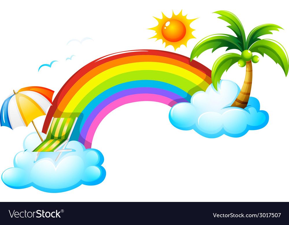 A rainbow in the sky vector | Price: 1 Credit (USD $1)