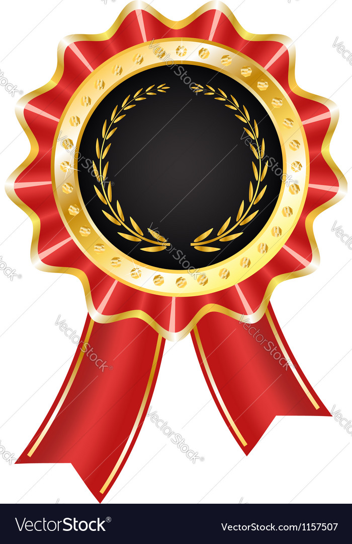 Award label with ribbon vector | Price: 1 Credit (USD $1)
