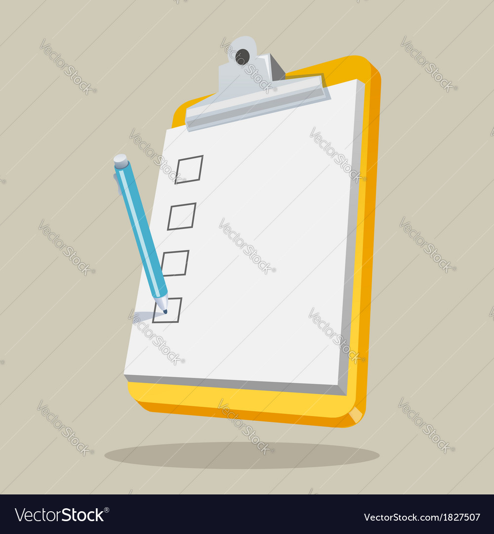 Clipboard with checklist vector | Price: 1 Credit (USD $1)