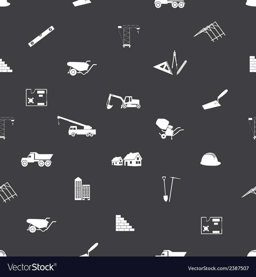 Construction icons seamless pattern eps10 vector | Price: 1 Credit (USD $1)