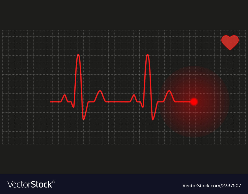 Graph - heart rate vector | Price: 1 Credit (USD $1)