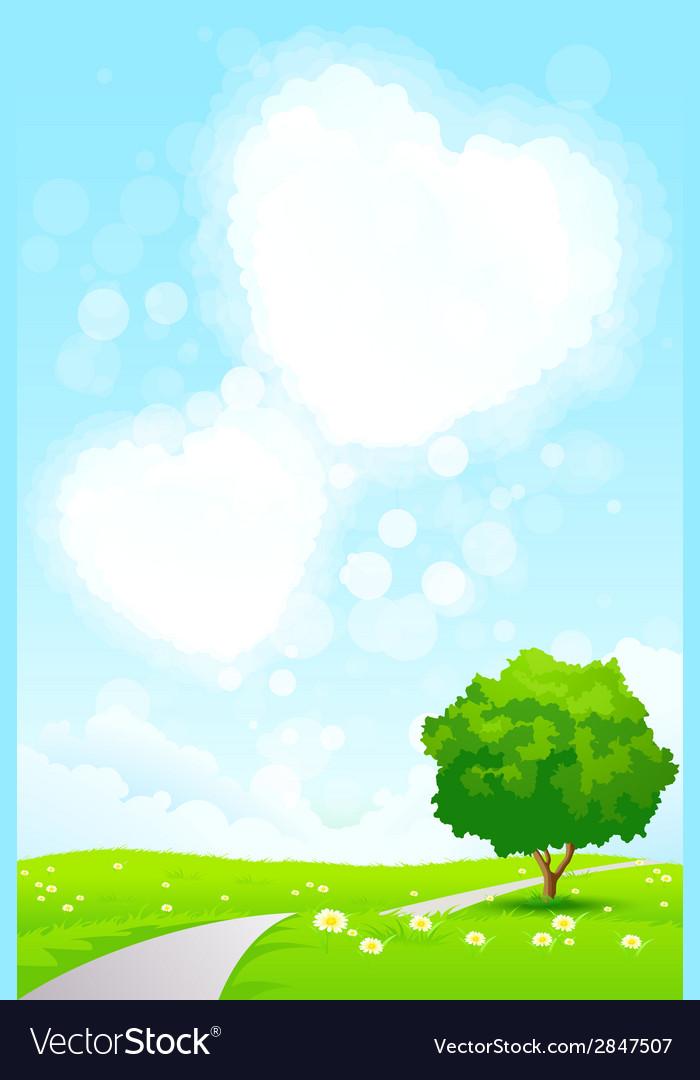 Green landscape vector   Price: 1 Credit (USD $1)