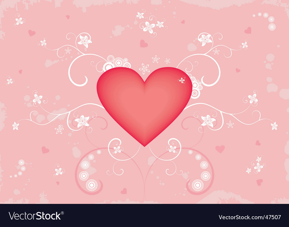 Grunge valentine's background vector