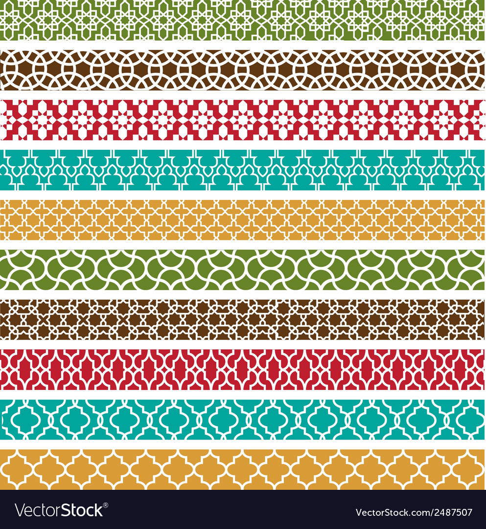 Moroccan border patterns vector | Price: 1 Credit (USD $1)